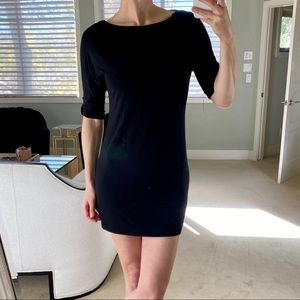 TART stretchy black tshirt dress